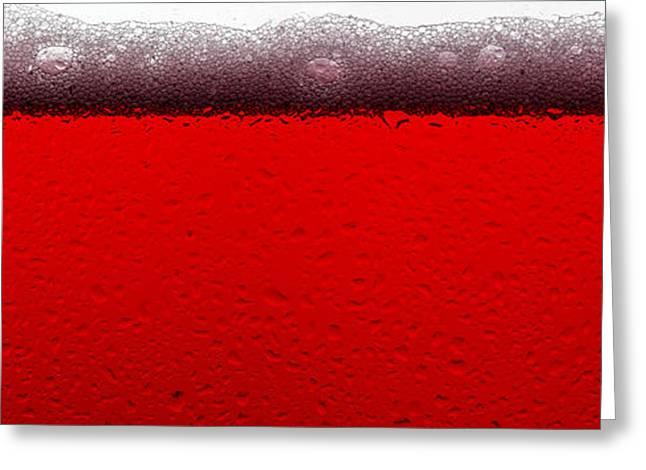 Sparkling Wine Greeting Cards - Red Sparkling Wine Greeting Card by Steve Gadomski