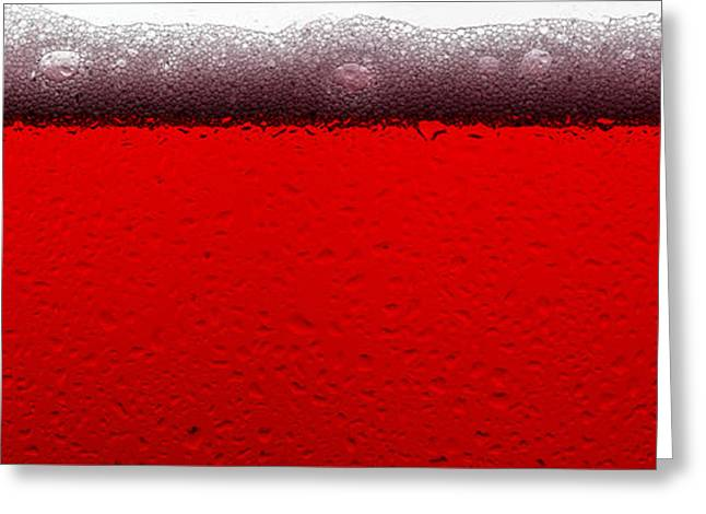 Red Sparkling Wine Greeting Card by Steve Gadomski