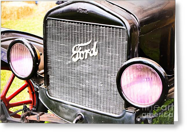 Ford Model T Car Greeting Cards - Red Spokes - Model T Greeting Card by Colleen Kammerer