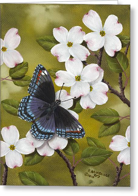 Flower Blossom Greeting Cards - Red Spotted Purple Greeting Card by Rick Bainbridge