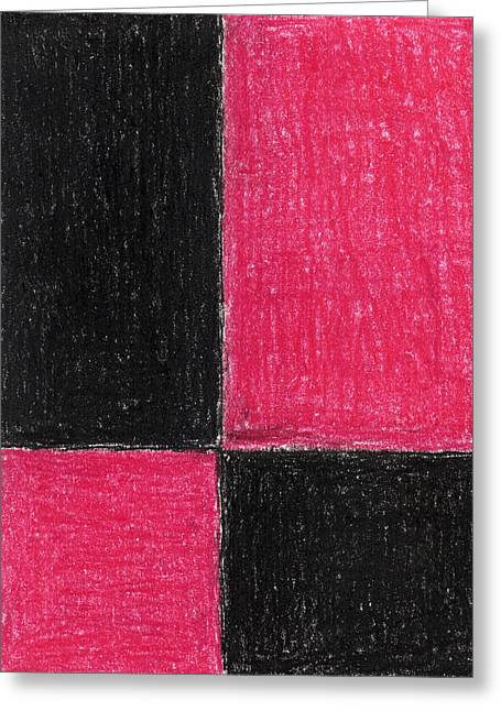 Game Pastels Greeting Cards - Red Square Greeting Card by Eric Forster