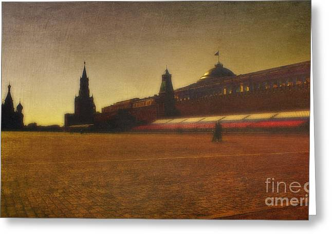 Red Square Moscow Greeting Card by Elena Nosyreva