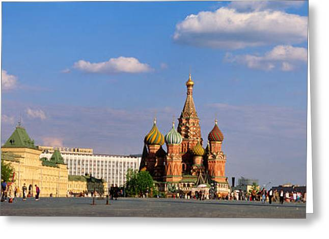 Eastern Europe Greeting Cards - Red Square, Moscow, Russia Greeting Card by Panoramic Images