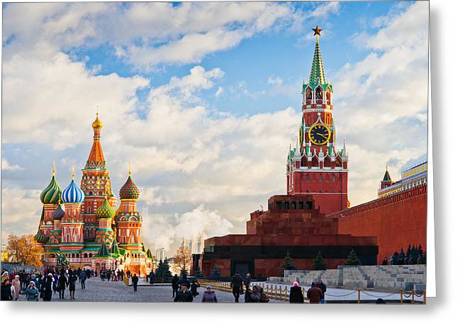 Red Square Of Moscow - Featured 3 Greeting Card by Alexander Senin