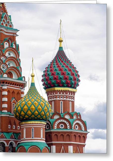 Red Square - St Basils - Moscow Russia Greeting Card by Jon Berghoff