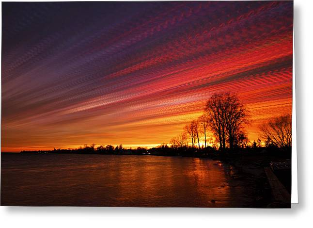 Red Swoosh Greeting Card by Matt Molloy