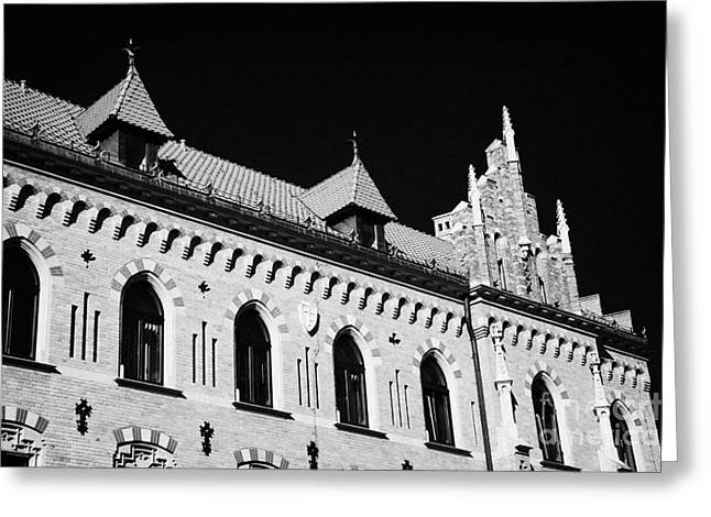 Polish City Greeting Cards - Red Tile Roof And Architecture Of Church Building Beneath Wawel Castle Krakow Greeting Card by Joe Fox