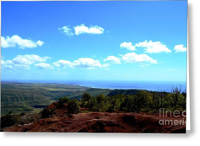 Cumulus Greeting Cards - Red to Blue Kauai Greeting Card by Greg Cross