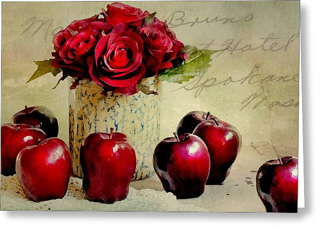 With Love Greeting Cards - Red to Red Greeting Card by Diana Angstadt