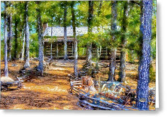 Georgia Nature Greeting Cards - Red Top Homestead Greeting Card by Daniel Eskridge