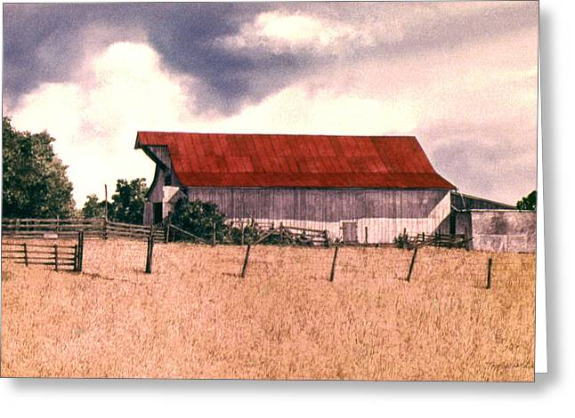 Recently Sold -  - Outbuildings Greeting Cards - Red Top Greeting Card by Tom Wooldridge