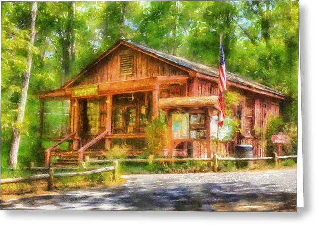 Visitors Digital Greeting Cards - Red Top Visitors Center Greeting Card by Daniel Eskridge
