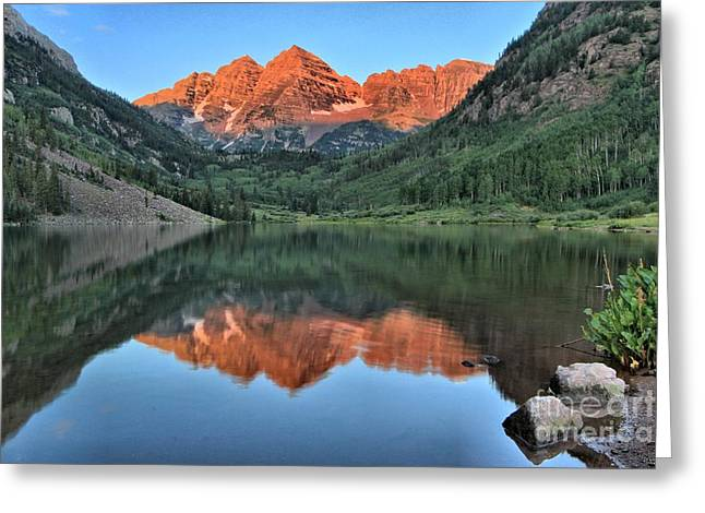 Colorado Landmarks Greeting Cards - Red Topped Bells Greeting Card by Adam Jewell