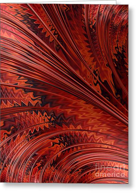 Red Tortoiseshell Abstract Greeting Card by John Edwards