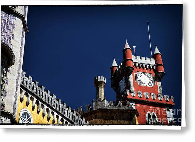 Pena Greeting Cards - Red Tower of Pena Palace Greeting Card by John Rizzuto