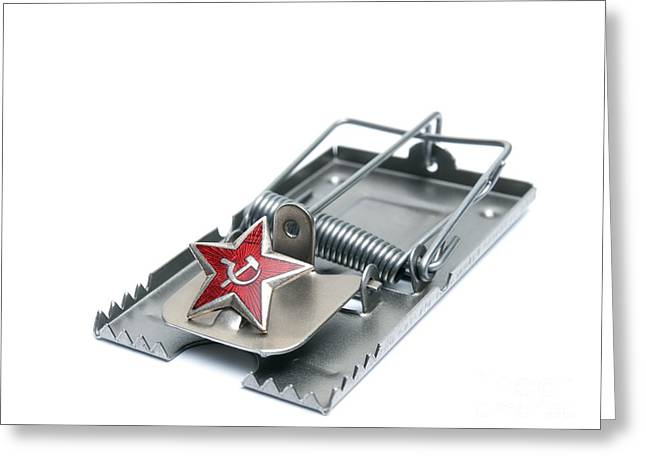 Communist Russia Greeting Cards - Red trap Greeting Card by Sinisa Botas