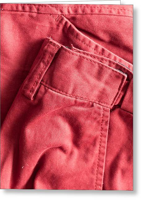 Red Trousers Greeting Card by Tom Gowanlock