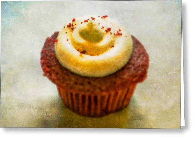 Bakery Greeting Cards - Red Velvet Cupcake Greeting Card by YoPedro