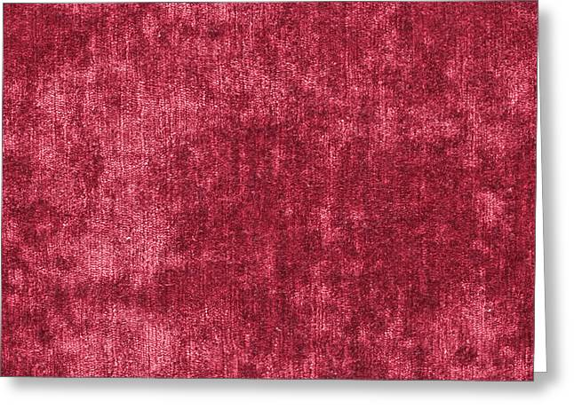 Cushion Greeting Cards - Red velvet Greeting Card by Tom Gowanlock