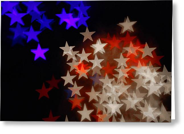 Aperture Greeting Cards - Red White and Blue Greeting Card by Beverly Stapleton