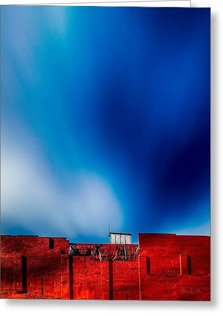 Industrial Greeting Cards - Red White And Blue Greeting Card by Bob Orsillo