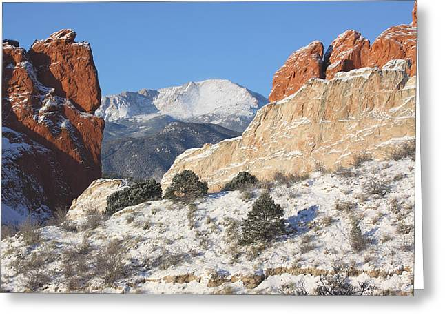 White Sandstone Greeting Cards - Red White and Blue Greeting Card by Eric Glaser