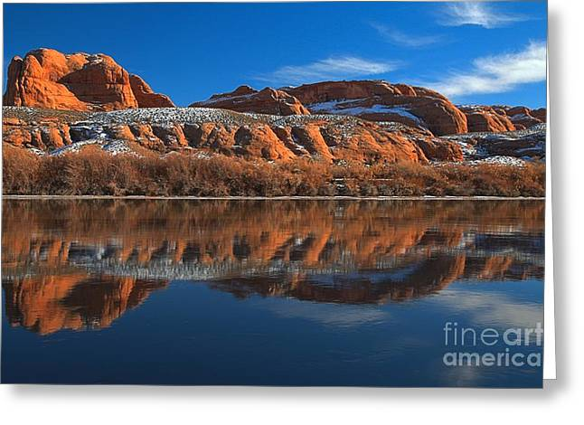 Southern Utah Greeting Cards - Red White And Blue In Green Greeting Card by Adam Jewell