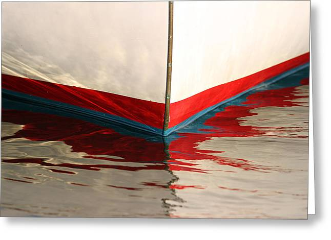 Sailboat Images Greeting Cards - Red White and Blue Greeting Card by Juergen Roth