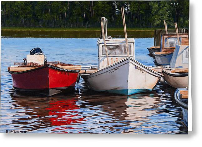 Rick Mckinney Greeting Cards - Red White and Blue Greeting Card by Rick McKinney