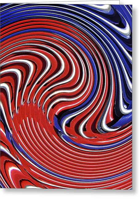 July 4 Digital Greeting Cards - Red White and Blue Greeting Card by Sarah Loft