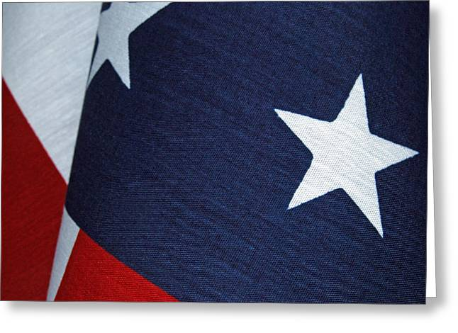 American_flag Greeting Cards - Red White and Blue Greeting Card by Tam Ryan
