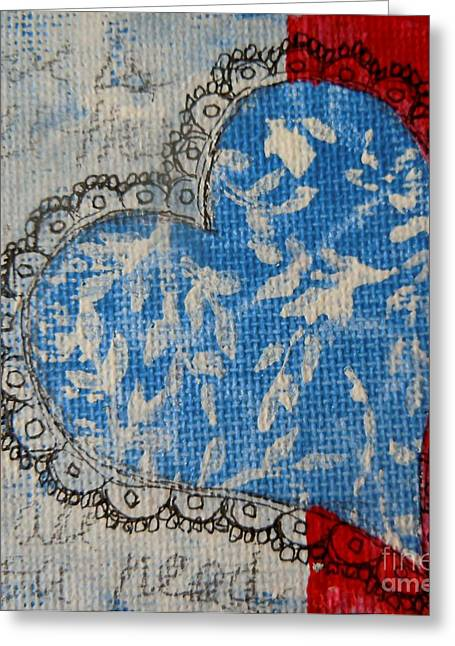 4th July Paintings Greeting Cards - Red White and Blue Greeting Card by Tonya Henderson