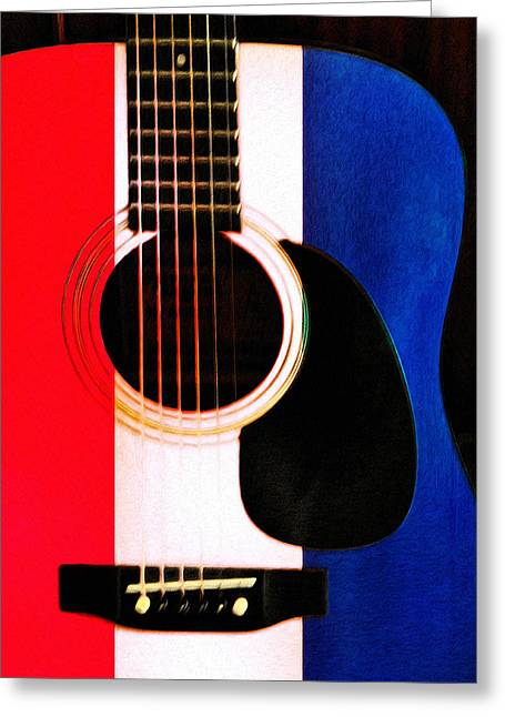 Red White And Blue Digital Greeting Cards - Red White and Blues Greeting Card by Bill Cannon