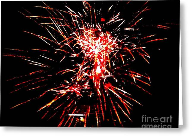 Red White Greeting Card by Shelia Kempf