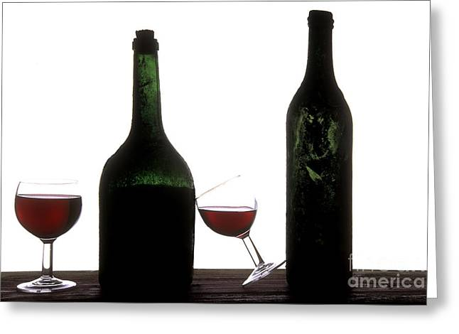Cut-outs Greeting Cards - Red wine Greeting Card by Bernard Jaubert
