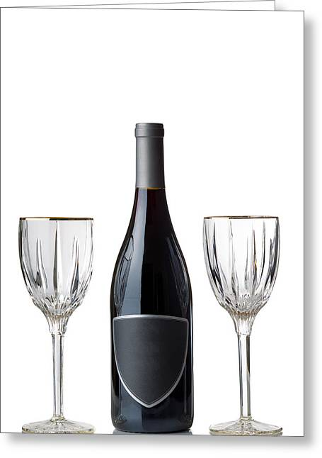 Occasion Greeting Cards - Red Wine for the Holiday Season  Greeting Card by Tom  Baker