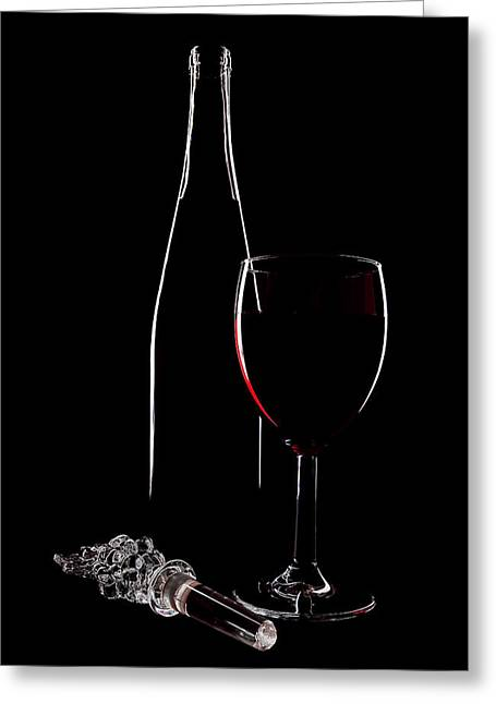 Red Wine Greeting Card by Marcia Colelli