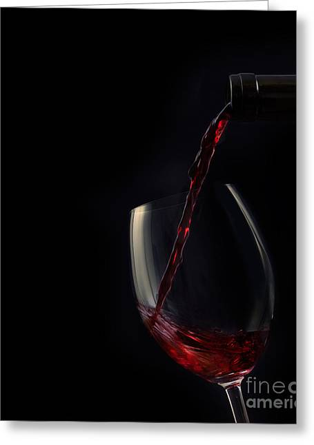 Cellar Greeting Cards - Red wine Greeting Card by Mythja  Photography