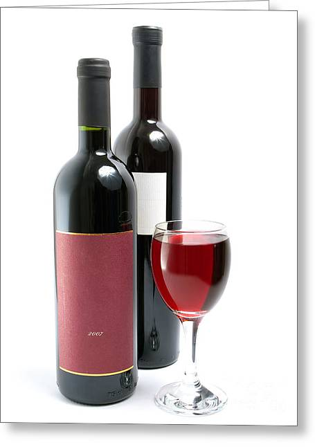 Table Wine Greeting Cards - Red wine Greeting Card by Sinisa Botas