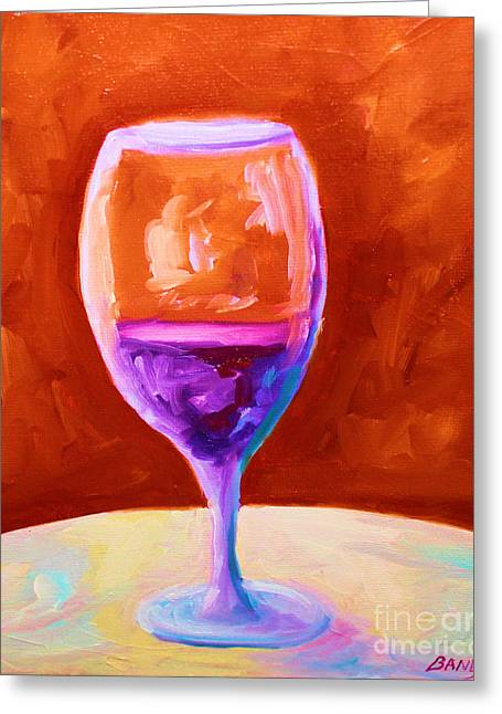 Red Wine Prints Greeting Cards - Red Wine Greeting Card by Todd Bandy