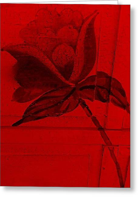 Nature Abstract Greeting Cards - Red Wood Flower  Greeting Card by Rob Hans