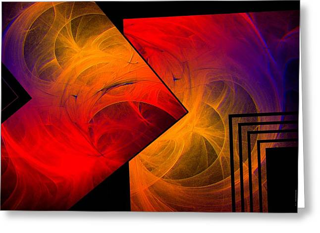 Effect Greeting Cards - Red Yellow and Blue Mix Greeting Card by Mario  Perez