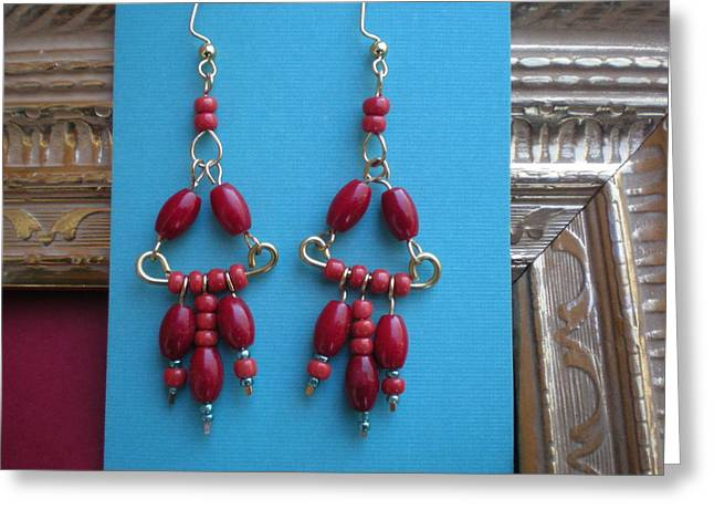Handcrafted Jewelry Greeting Cards - Red Yes Red Greeting Card by Beth Sebring