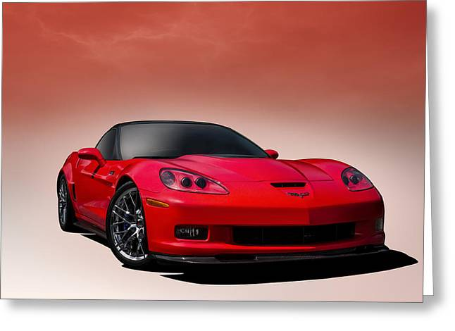 Chevy Greeting Cards - Red ZR1 Greeting Card by Douglas Pittman