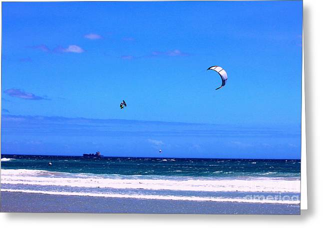 Kite Surfing Greeting Cards - RedBull King of the Air Cape Town South Africa Greeting Card by Charl Bruwer