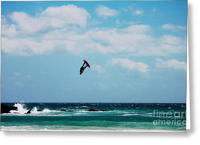 Kite Surfing Greeting Cards - RedBull King of the Air Competition Cape Town South Africa Greeting Card by Charl Bruwer