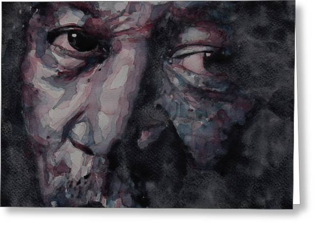 Redemption Greeting Cards - Redemption Man Greeting Card by Paul Lovering