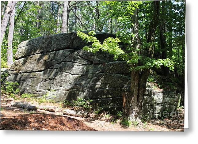 Mary Philips Greeting Cards - Redemption Rock Princeton Massachusetts Greeting Card by Spirit Baker