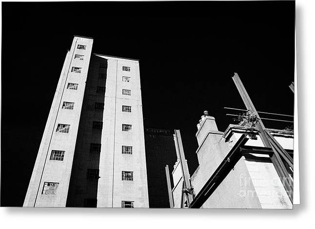 Flour Greeting Cards - Redeveloping Bolands Flour Mill Dublin Republic Of Ireland Greeting Card by Joe Fox