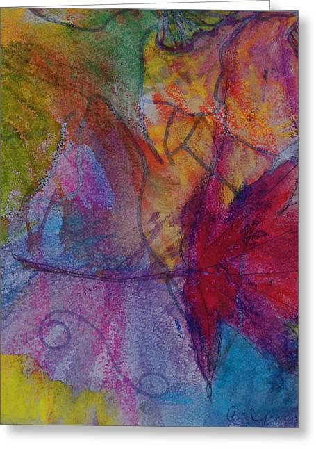 Claudia Smaletz Greeting Cards - Redgum in Spring Breezes Greeting Card by Claudia Smaletz
